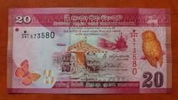Sri Lanka 20 Rupees UNC 2015