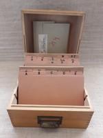 Vintage kartoték doboz, irattartó doboz.