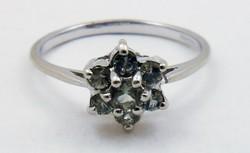 Antik fehérarany gyűrű gyémántokkal arany gyűrű