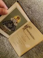 1908 Antik Mini könyv Hóvirágok Kis Jézuskának kézzel írott korabeli ájtatossággal