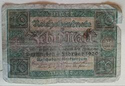 Gyengébb Inflációs 10 márka 1920.bankjegy