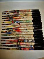 Antik festett fa tollszár
