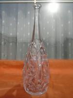 Antik 1900-as évek elejei kristály váza hibátlan és nagyon különleges forma súlyos darab 38,5 cm