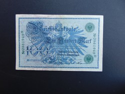 100 márka 1908 Németország zöld pecsét  02