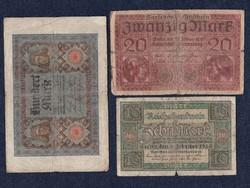 3 db német márka / id 5559/