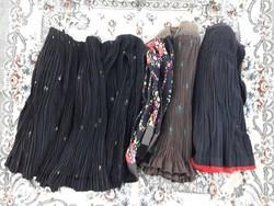Ráncolt rakott szoknya csomag (3 db) - népi paraszti népviseleti ruhadarabok