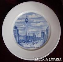 Weimari porcelán dísztányér Berlin Hauptstadt der DDR