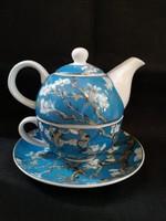 Goebel porcelán Vincent van Gogh : Mandulafa egyszemélyes teás szett, hibátlan
