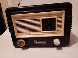 Régi bakelit Tihany rádió működik
