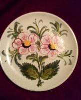 3 db  kézzel festett kerámia   tál, 2 olasz, egy német, 15-, 16-, 16 cm átmérőjűek,virág mintásak