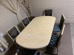 Egyedi Olasz étkező szett Rózsafa székek!