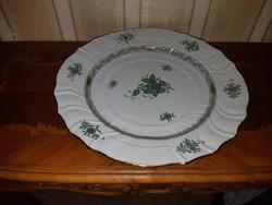 Herendi zöld Apponyi mintás tál 29-5 cm