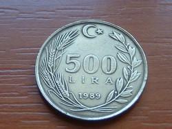 TÖRÖKORSZÁG 500 LÍRA 1989 #