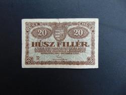 20 fillér 1920  22 - es sorszám