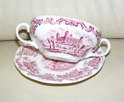 Angol porcelán leveses csésze alátéttel