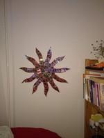 Fali dekoráció csillogó irizáló napocskás kép