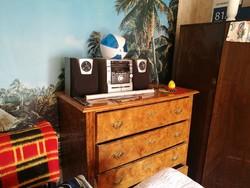 Biedermeir komód, 4 fiókos, 63x129cm,magassága 117cm
