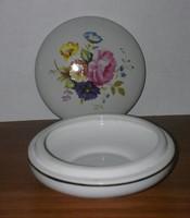 Virágos porcelán bonbonier
