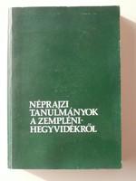 Néprajzi tanulmányok a Zemplén-hegyvidékről