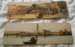 Olasz Velence Venezia képeslap levelezőlap keskeny 1900 körül antik