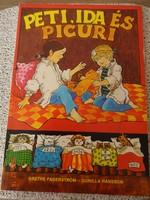 Grethe Fagerström - Gunilla Hansson: Peti, Ida és Picuri - régi mesekönyv, képregény (1987)