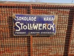 Stollwerck zománc tábla