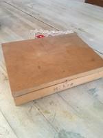Fa doboz - írószer tartó - vintage retro