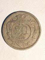20 Heller 1893 Nikkel - Osztrák Habsburg Franz Joseph /ERM009/