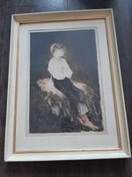 Prihoda Istvàn rézkarc 65 x 48 cm