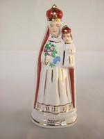 Szentkúti emlék Szűz Mária jelzett magyar porcelán szobor