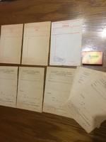 9 darab régi orvosi papír érvénytelen vény - igazolás - 1990-es évekről