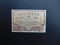 5 korona 1920 Uránia Mozgófényképszínház Szombathely
