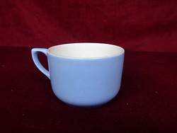 Gránit magyar porcelán világoskék teáscsésze, átmérője 8 cm, magassága 5,5 cm.