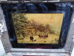 Festmény üvegre