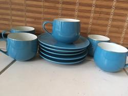 Helyes Japán Teáscsészék és Süteményes Tányérok (5-5db)