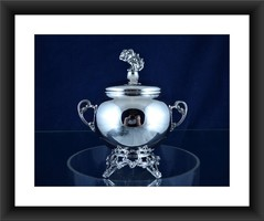 Sugar bowl - .800 silver - Italy - First half 20th century