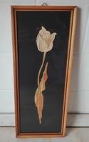 Mutatós kép tulipánnal.  - szalma?? kép