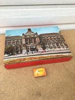 Hotel Gellért díszdoboz - doboz papír - Eger - Kner nyomda - régi autó ábrázolás