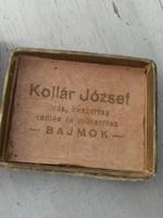 Vintage Retro Magyar ékszertartó doboz - órás rádiós és műszerész - fém szeg