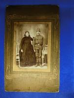 Vasas Sándor fényképész  fotográfia fotó régi kép kemény papíron(katona)