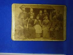 Régi családi fotográfia fotó régi kép kemény papíron