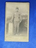 Visit Portrait fotográfia fotó régi kép Katona fotó bajonettel