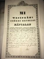 Mi Weszprémi Székes egyházi Káptalan! 1838 (telek eladás)