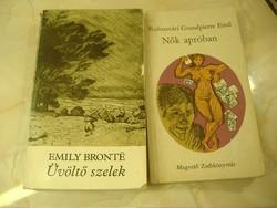 Emily Brontë: Üvöltő szelek 1982/Kolozsvári Grandierre Emil Nők apróban 1970 egyben: 600 Ft.