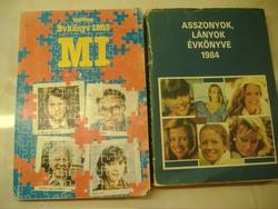 MI Ifjúság Évkönyv 1985/Asszonyok, lányok évkönyve 1984, egyben: 600 Ft.