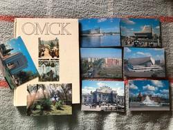 Eladó eredeti orosz OMSZK városa könyv (cirill és angol írású) + 8db kitöltetlen képeslap a városról
