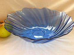 Nagy kék művészi üvegtál
