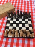 Retro Fa sakk játék készlet