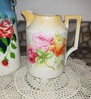 Gyönyörű 4 lábon álló rózsás kiöntő, Gyűjtői szépség