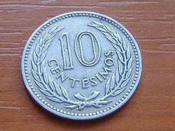 URUGUAY 10 CENTÉSIMOS 1953 #